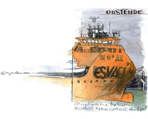 Mes petits Moleskines – Esvagt bateau – Jean-Claire Lacroix