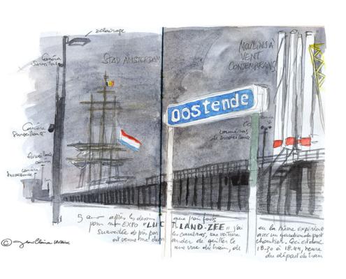Mes petits Moleskines – Gare d'Oostende – Jean-Claire Lacroix