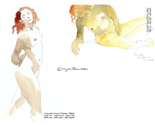 Mes petits Moleskines – modèle vivant – Jean-Claire Lacroix
