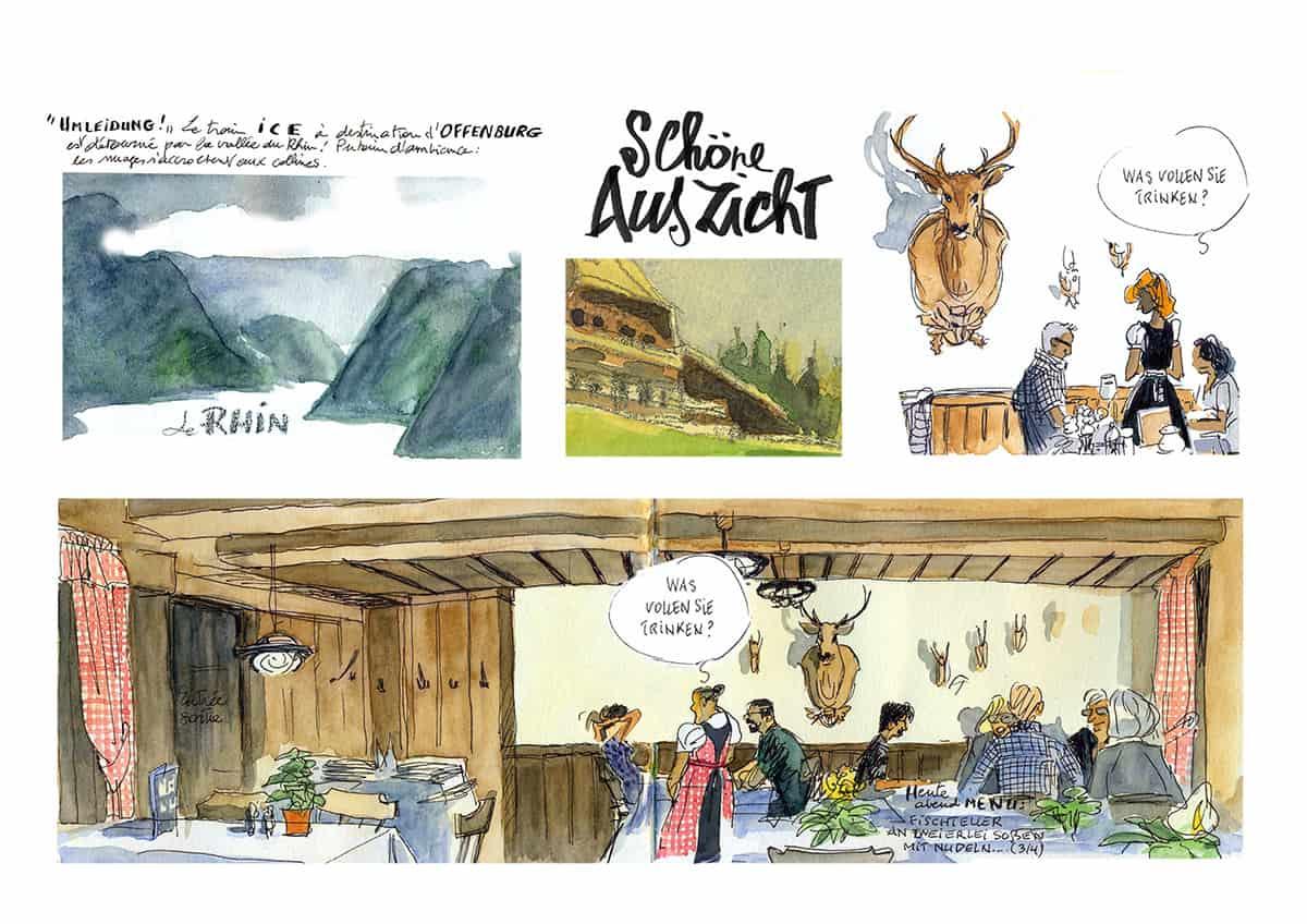 Mes petits Moleskines – Arrivée à Schöne Aussicht – Jean-Claire Lacroix