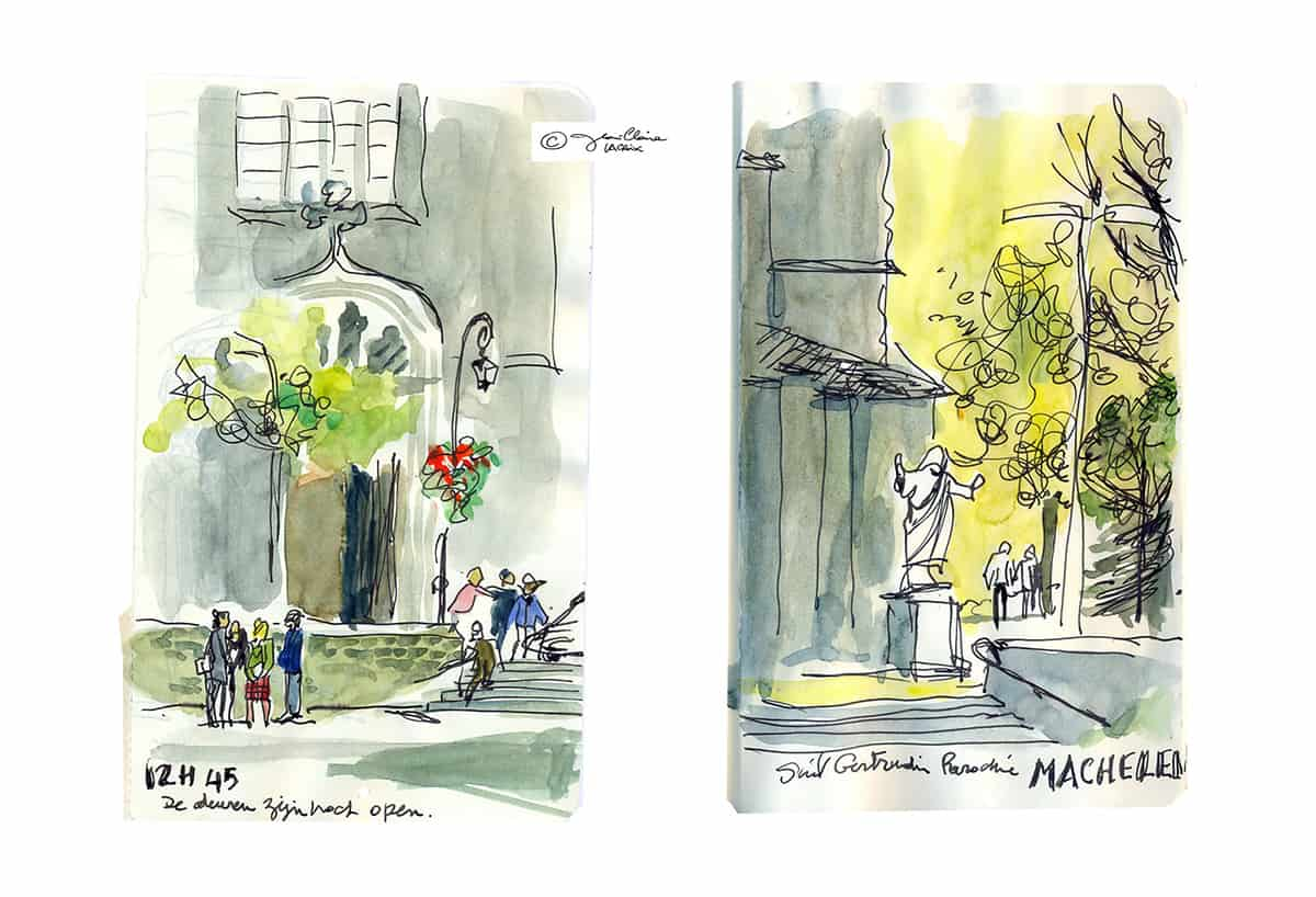 Mes petits Moleskines – Repérage pour le roman graphique Banal Canal – Jean-Claire Lacroix